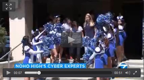 Schoolwide Pep Rally for Cyber Patriots teams