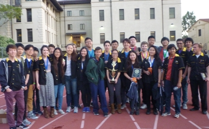Science Olympiad team takes first place in 2016 LA County regional tournament, held at Occidental College