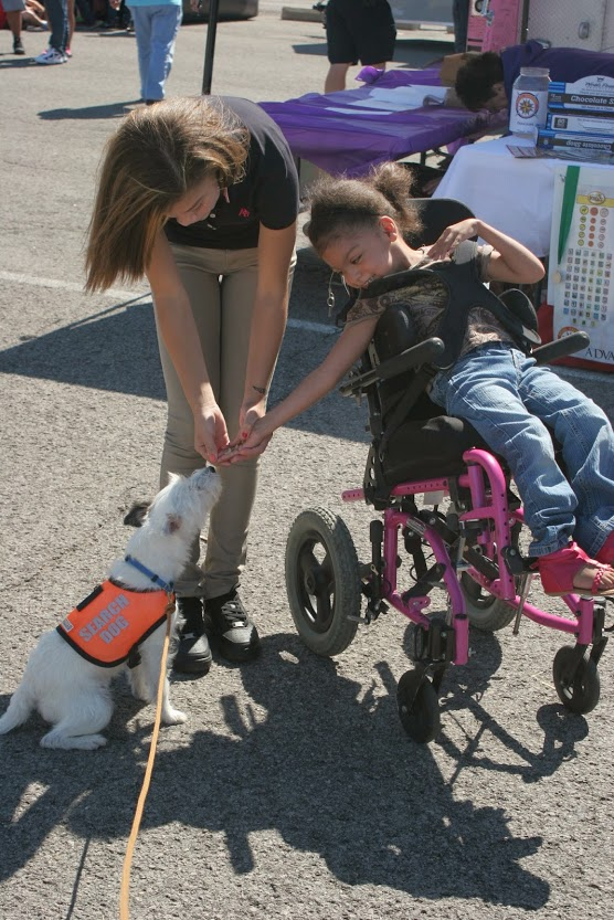 Remy adn girl in wheelchair.JPG