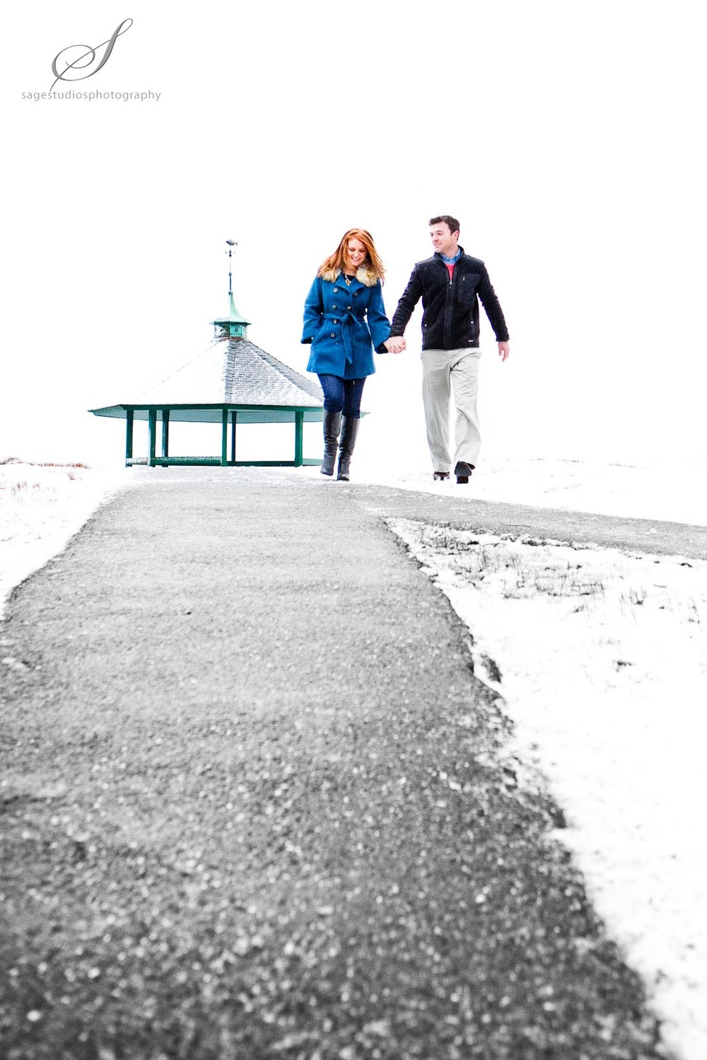 Winter engagement shoot | Photos by Sage Studios Photography