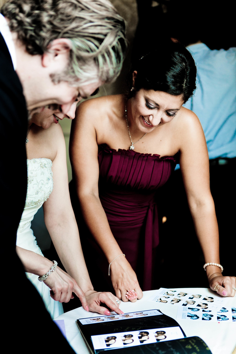 guests signing guestbook photograph by westchester wedding photographer