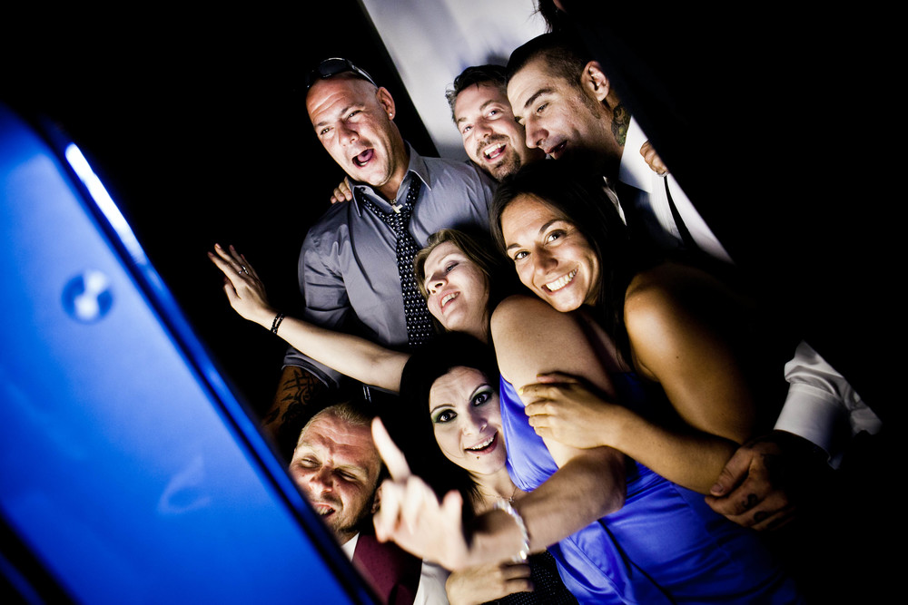 fun in photobooth photograph by westchester wedding photographer