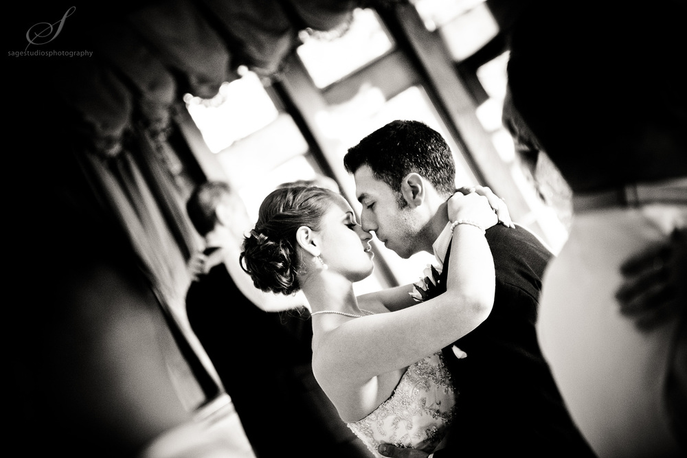 bride and groom intimate first dance photograph by westchester wedding photographer