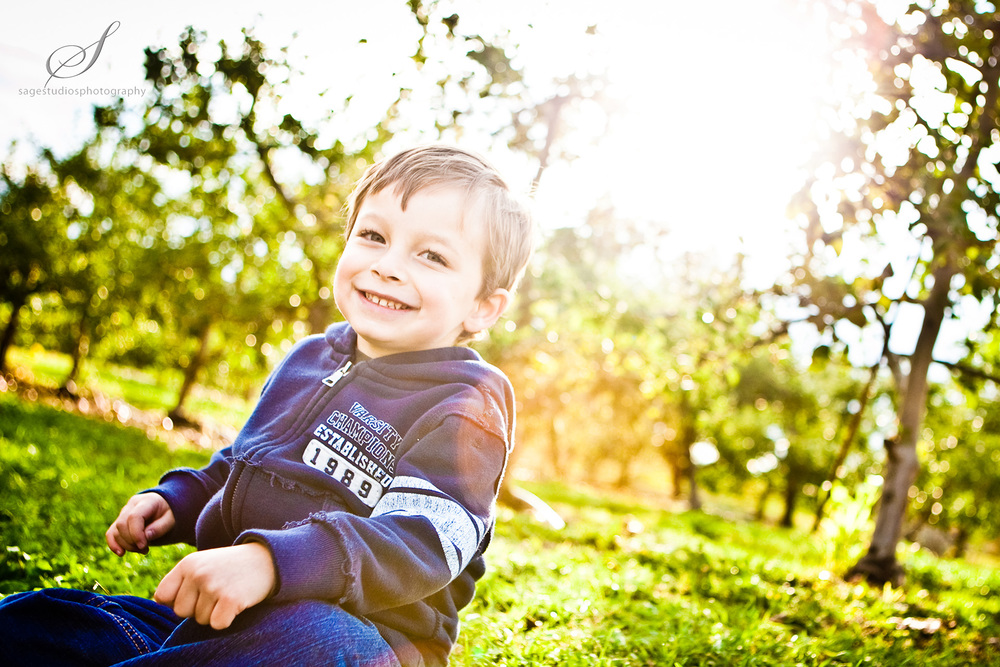 backlit cute boy photograph by westchester wedding photographer