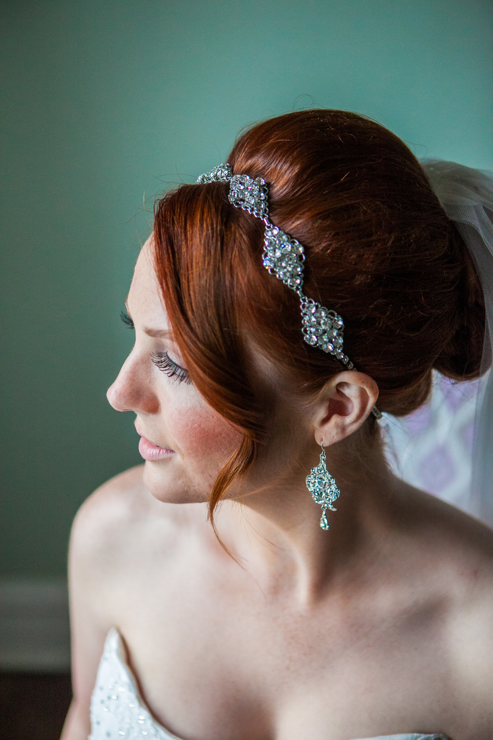 redhead bridal hairstyle by westchester wedding photographer