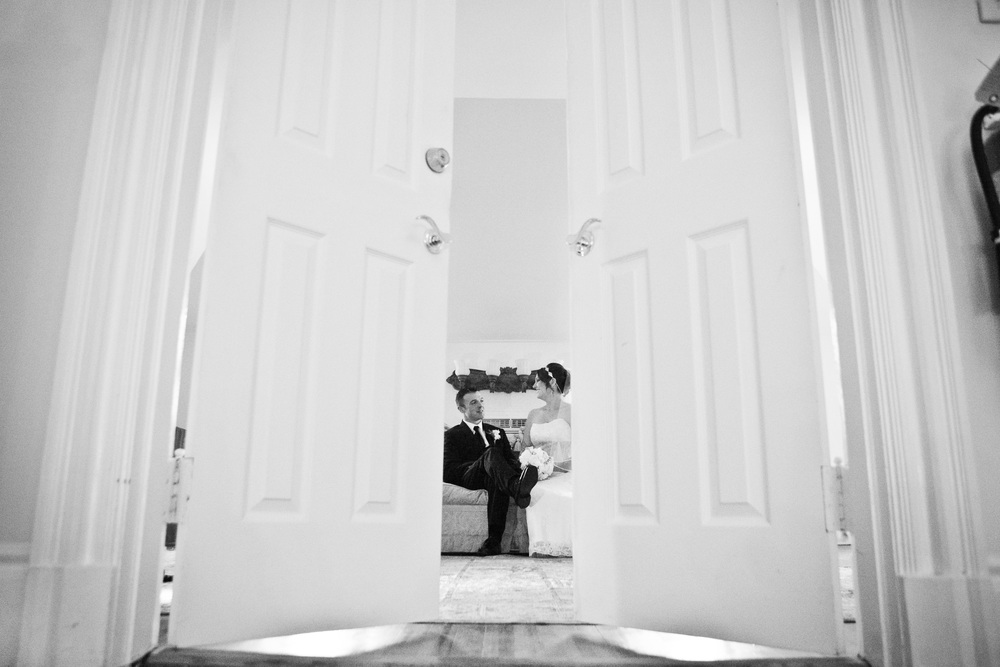 bride and groom portraitat greentree country club by westchester wedding photographer