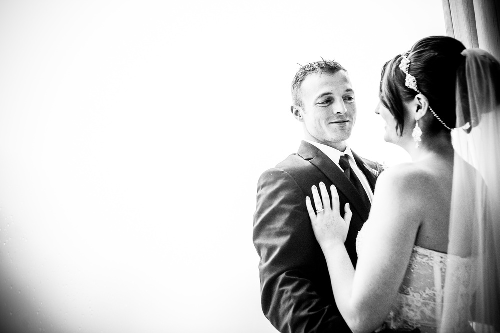 groom smiling at greentree country club by westchester wedding photographer