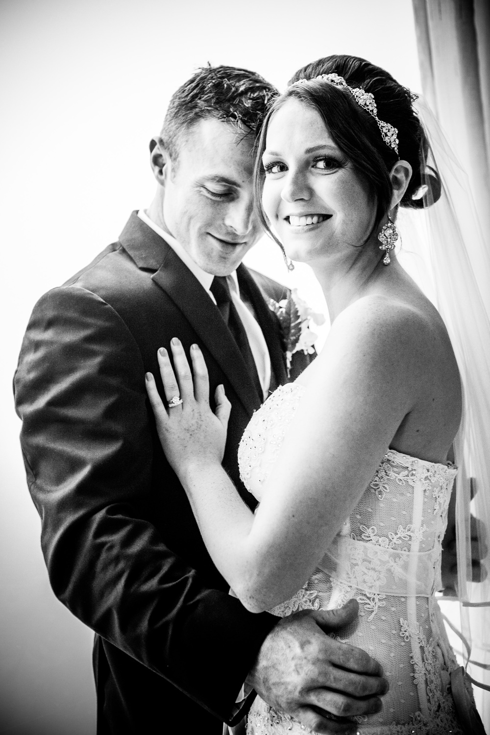 emotional portrait at greentree country club by westchester wedding photographer