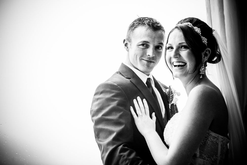 happy couple at greentree country club by westchester wedding photographer