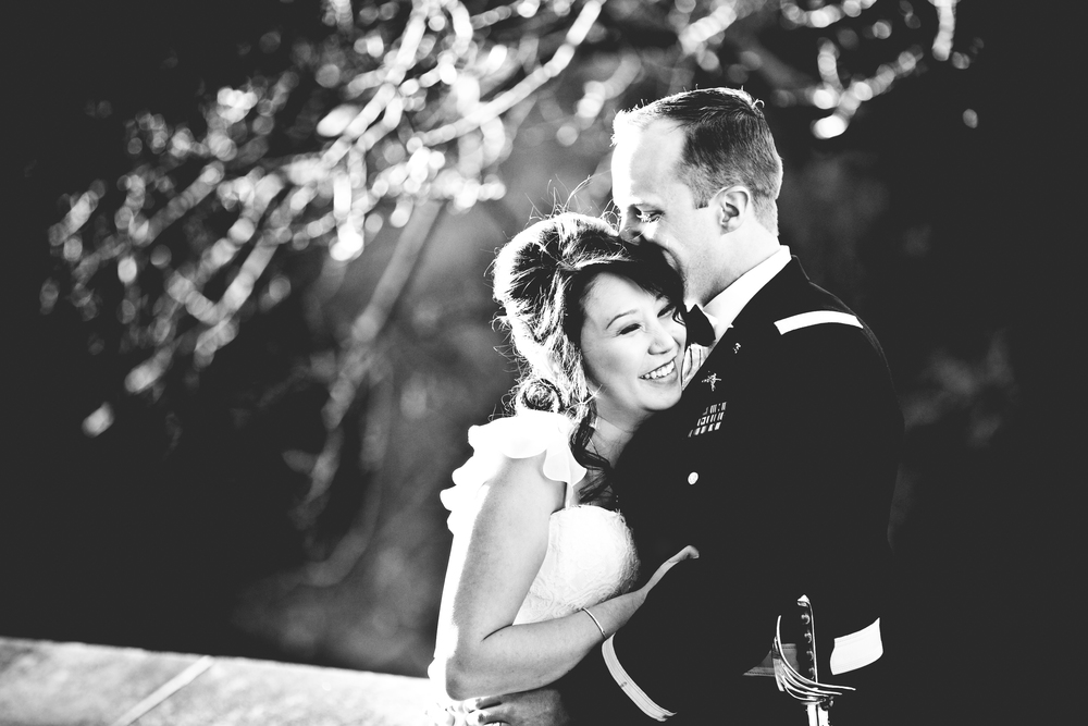 Black and White wedding photo at a West Point wedding by Westchester wedding photographer sage studios