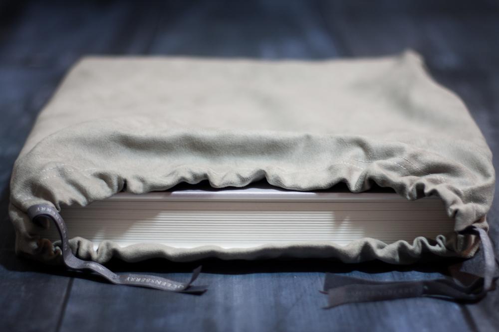 Queensberry wedding album inside cloth cover
