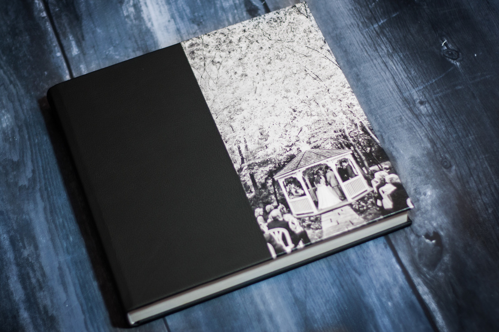 Queensberry wedding album black leather