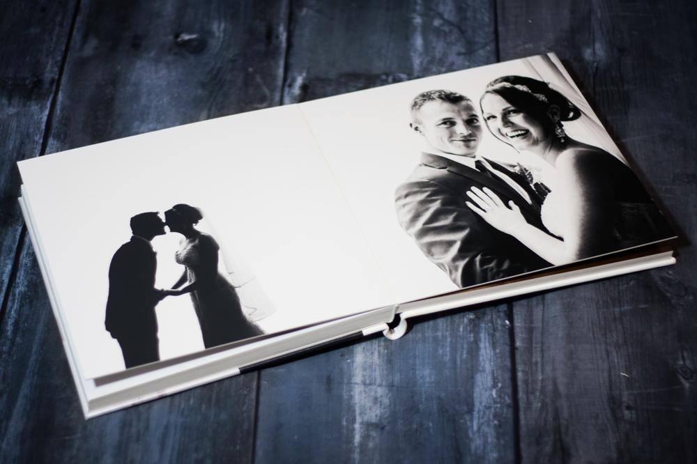 Queensberry wedding album opened