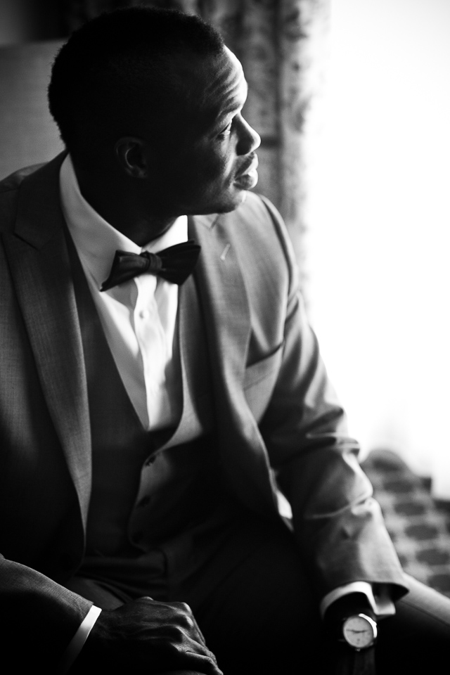 Groom portrait at Alpine Country Club in New Jersey.