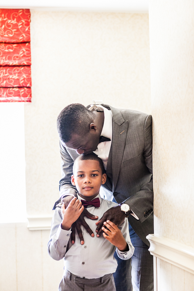 Groom and his son at Alpine Country Club in New Jersey.