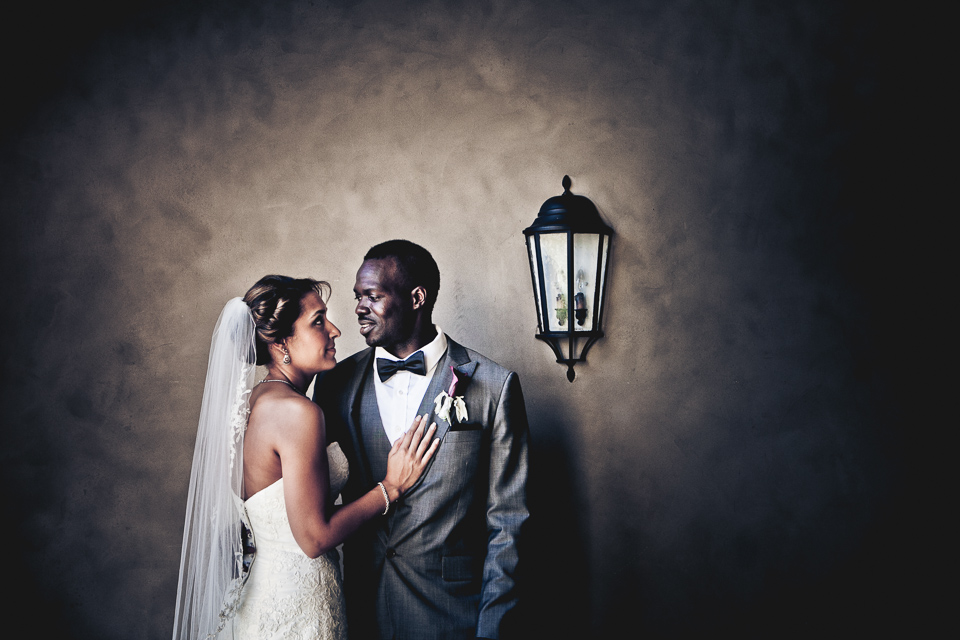 Bride and groom portrait at Alpine Country Club, in New Jersey.