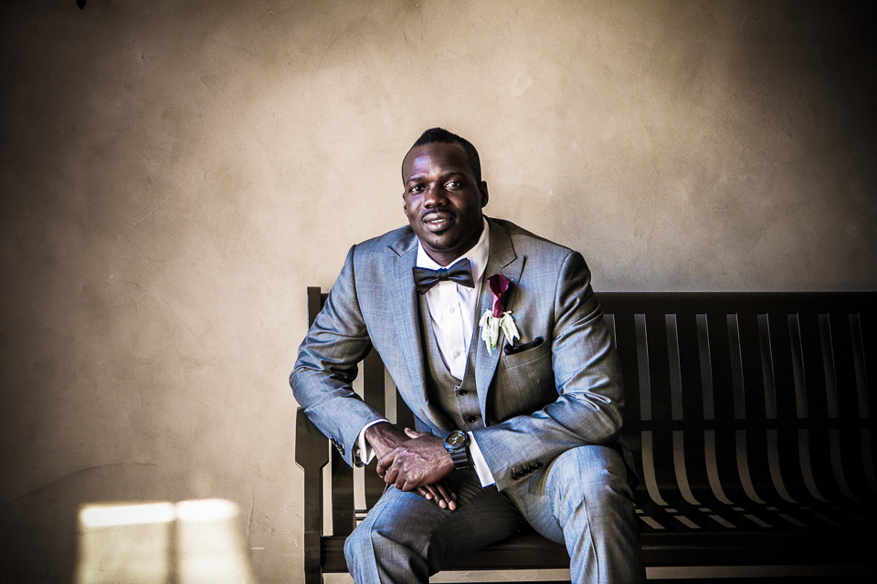 Groom portrait at Alpine Country Club, in New Jersey.