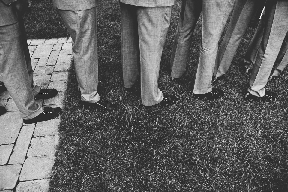 Groomsmen in converse at Alpine Country Club, in New Jersey.