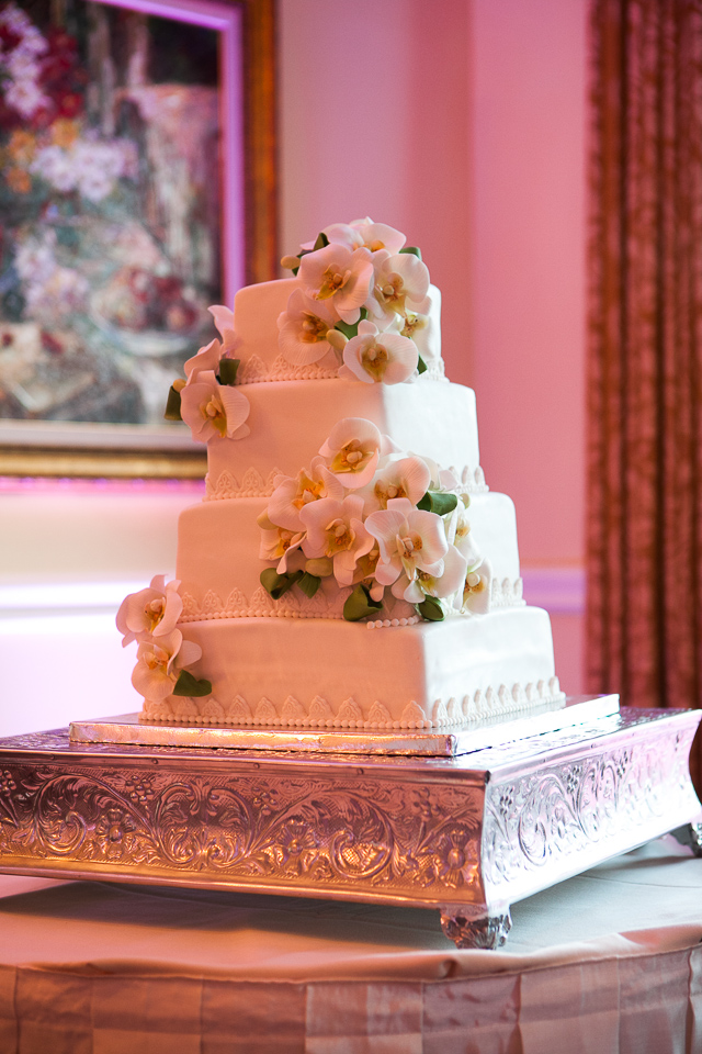 Beautiful wedding cake at Alpine Country Club, in New Jersey.