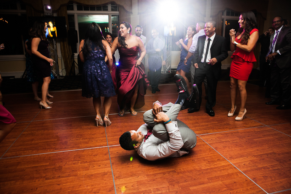 People break dancing at Alpine Country Club, in New Jersey.