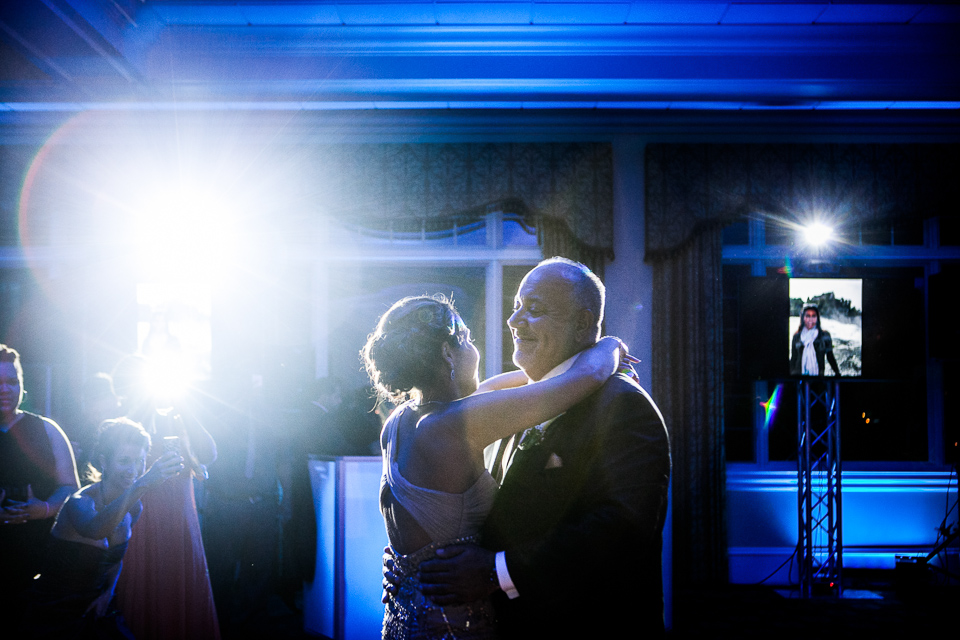 Bride dancing with her father at Alpine Country Club, in New Jersey.