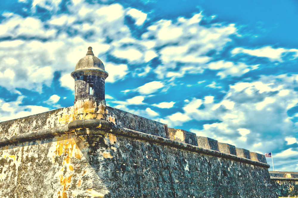 HDR photo of Castillo San Felipe Del Morro by Westchester wedding photographer Sage Studios Photography.