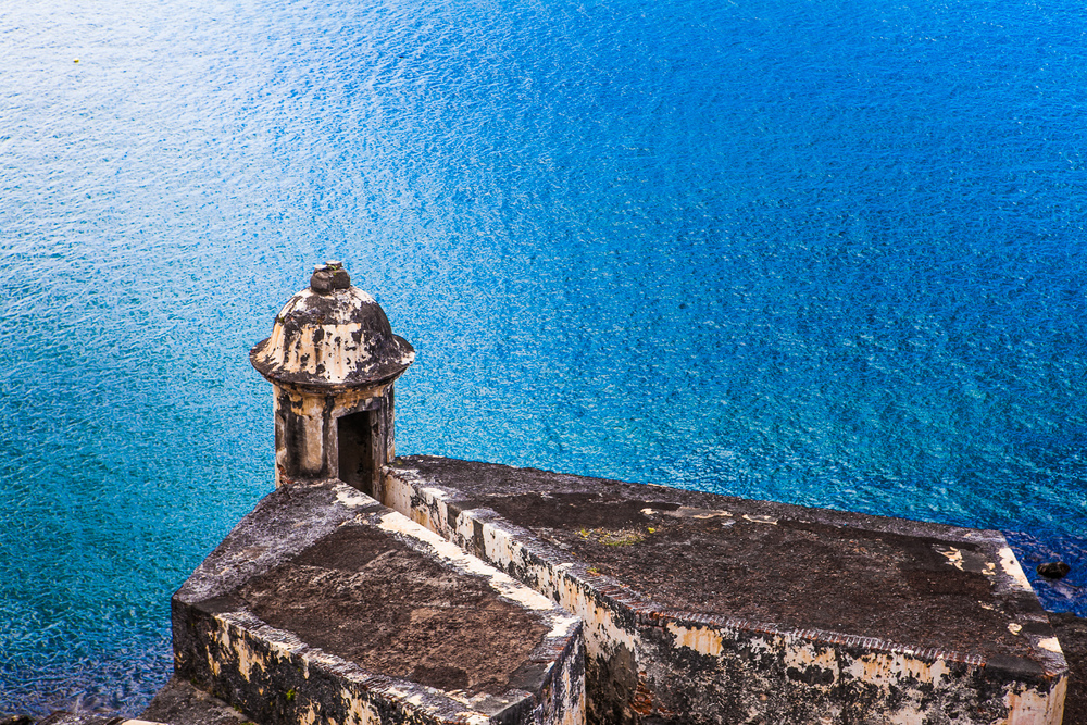 Castillo San Felipe del Morro over water in Puerto Rico by Westchester photographer Sage Studios Photography.