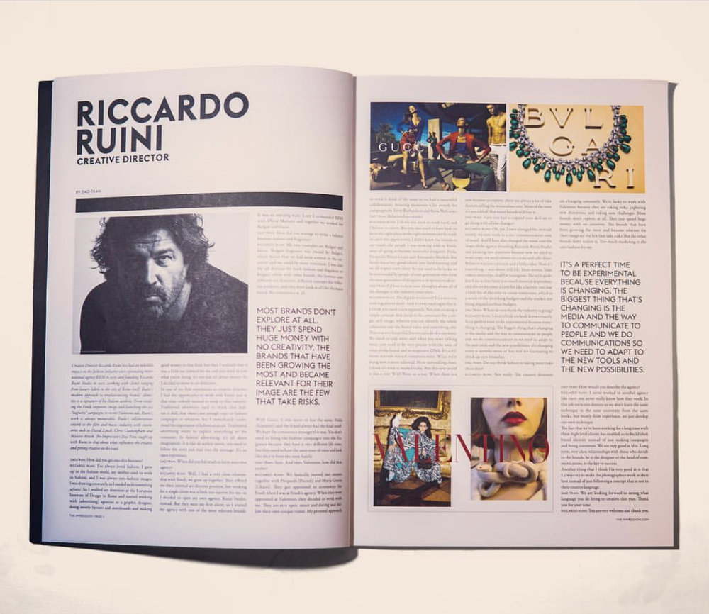 Impression - Portrait of Riccardo Ruini - the most important 250 creatives in the fashion industry