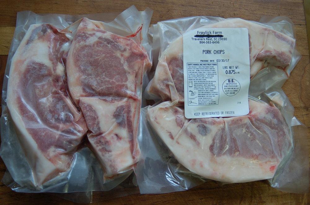 Pork Chops $9.50 per lb