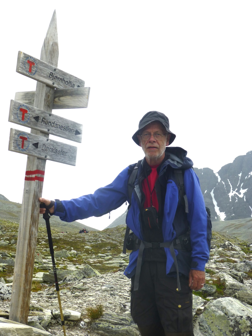 Trekking in the Norwegian mountains, July 2013