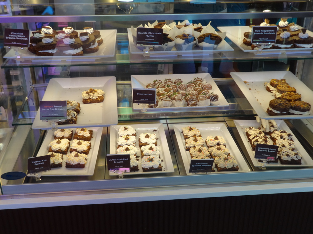 Some of the sweet treats available at Hershey's Chocolate World.