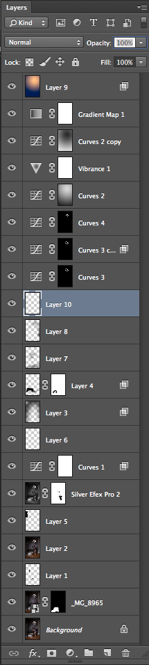 And just for fun, here are my layers in PS