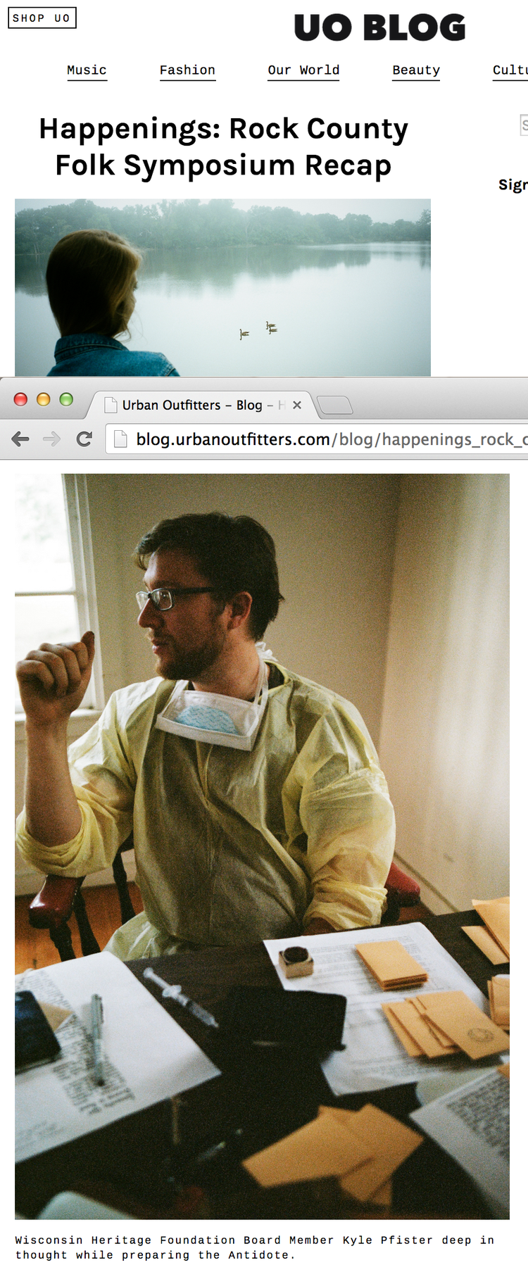 Featured on the  Urban Outfitters blog