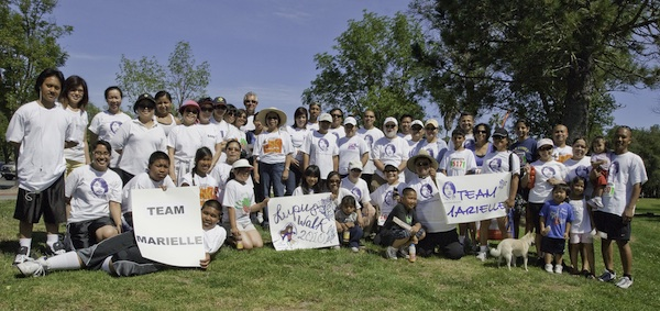 Filipinos and friends supporting Team Marielle at the Annual 5K Run and Walk for Lupus in Saratoga, California   (Courtesy of Lupus Foundation)