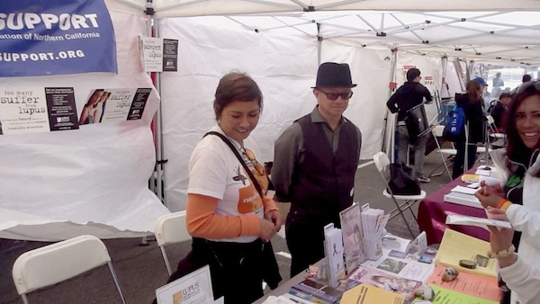 Promoting greater public awareness about lupus at the San Francisco Asian Heritage Street Celebration (Courtesy of Lupus Foundation)