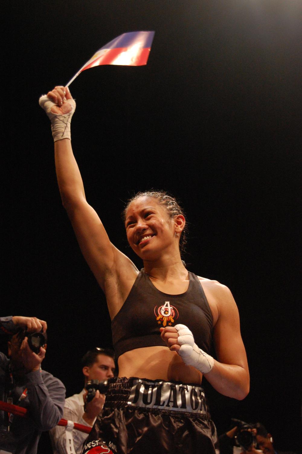 "Boxing champion Ana ""The Hurricane"" Julaton (Photo by Raymond Virata)"