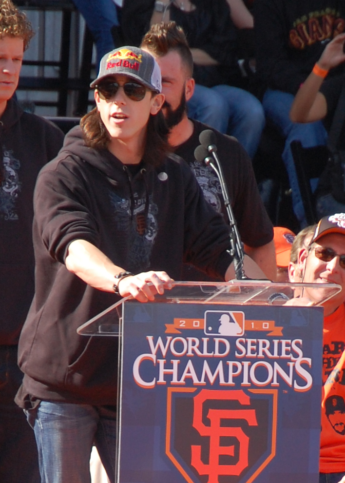 Two-time Cy Young Award winner Tim Lincecum of the world champion San Francisco Giants  (Photo by Raymond Virata)