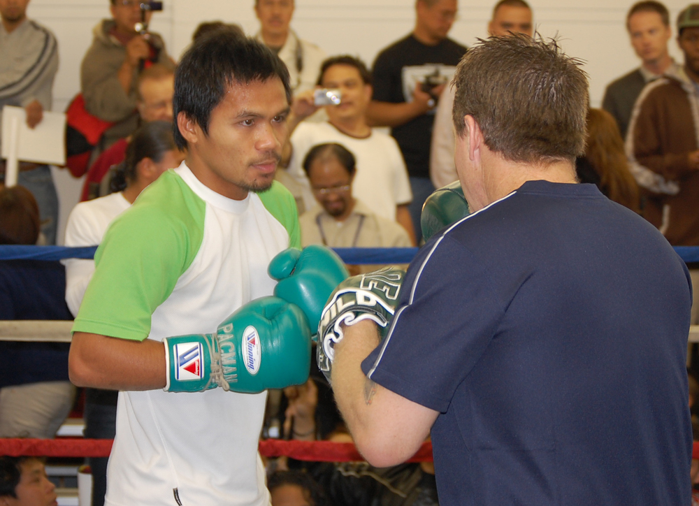 Eight-time boxing champion Manny Pacquiao (Photo by Raymond Virata)