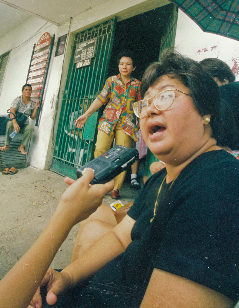 Thelma Chiong, mother of the victims, Jacqueline and Marijoy.  (Source:  giveuptomorrow.com )