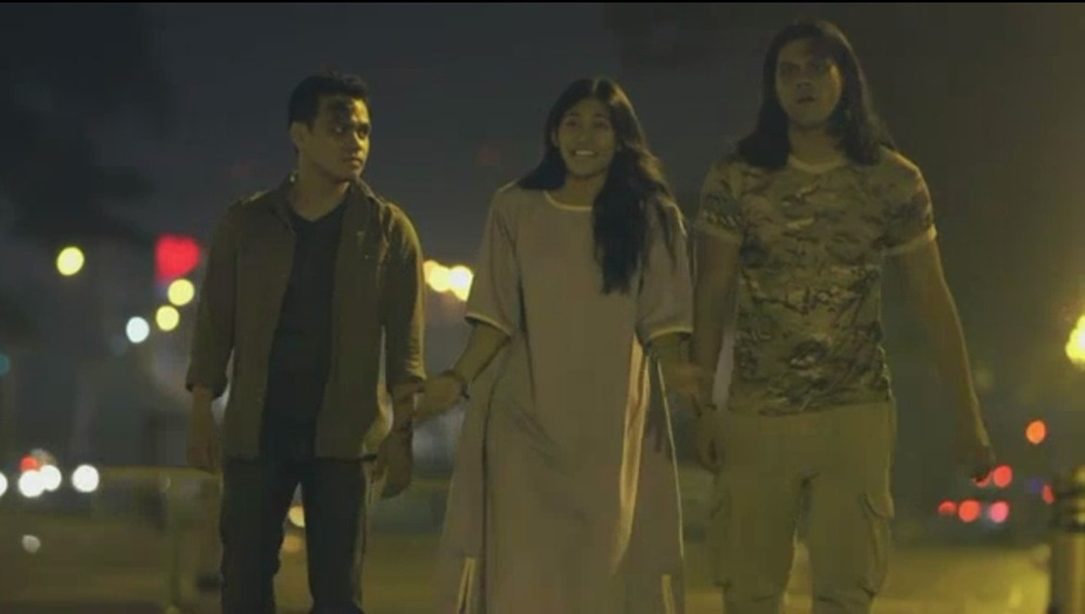 "In ""Melodrama Negra,"" (L-R) Bong Cabrera, Gee Canlas and Jerald Napoles portray wandering spirits who need to find out how to move on into the afterlife."