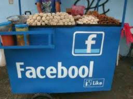"Sign displays: ""Facebool"""