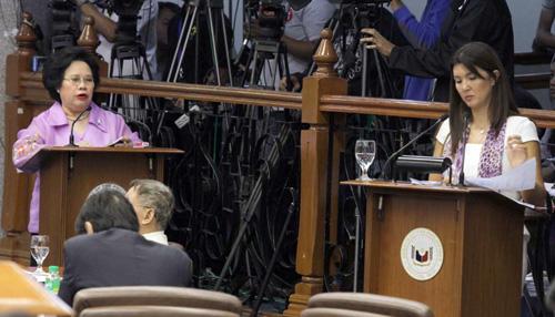 Philippine Senators Miriam Defensor-Santiago and Pia Cayetano, co-authors of the Reproductive Health Bill in the Senate (Source: www.senate.gov.ph)