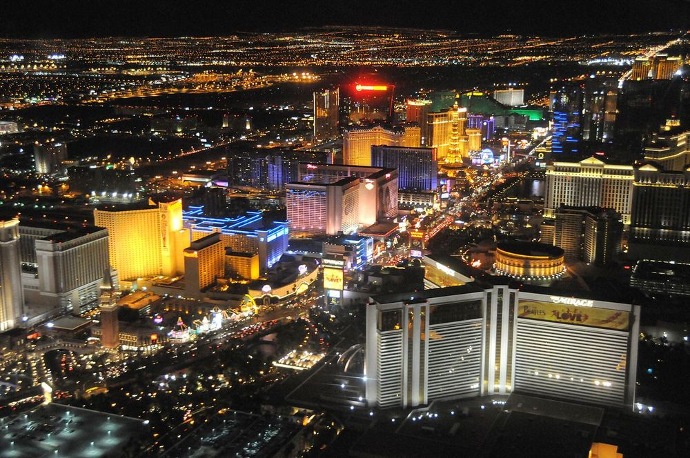 The Las Vegas Strip  (Source: www.wikipedia.org, Photo by Lasvegaslover)