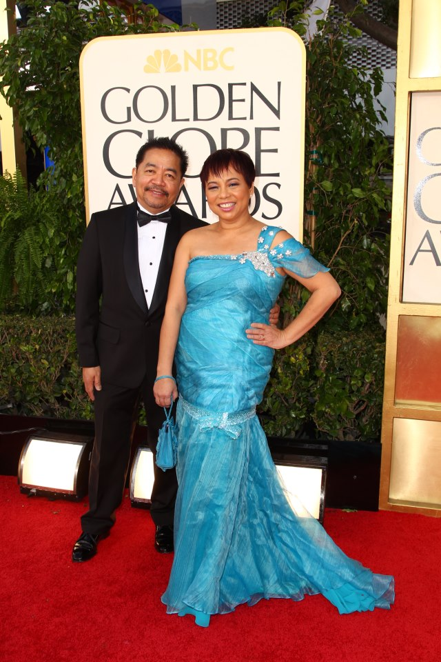 Ruben Nepales, Chairman of the Board of the Hollywood Foreign Press Association with wife and HFPA member Janet Nepales  (Photo by John Salangsang)