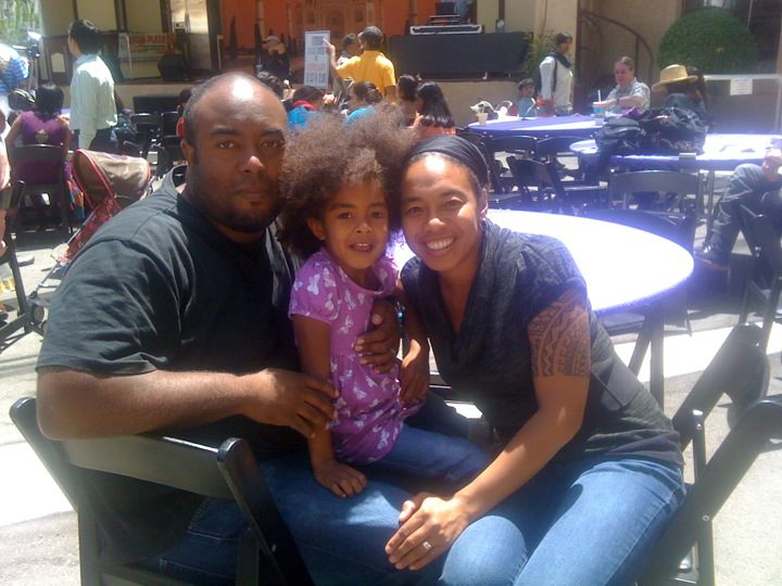 Janet Stickmon and family at Alameda City Fair (Photo courtesy of Janet Stickmon)