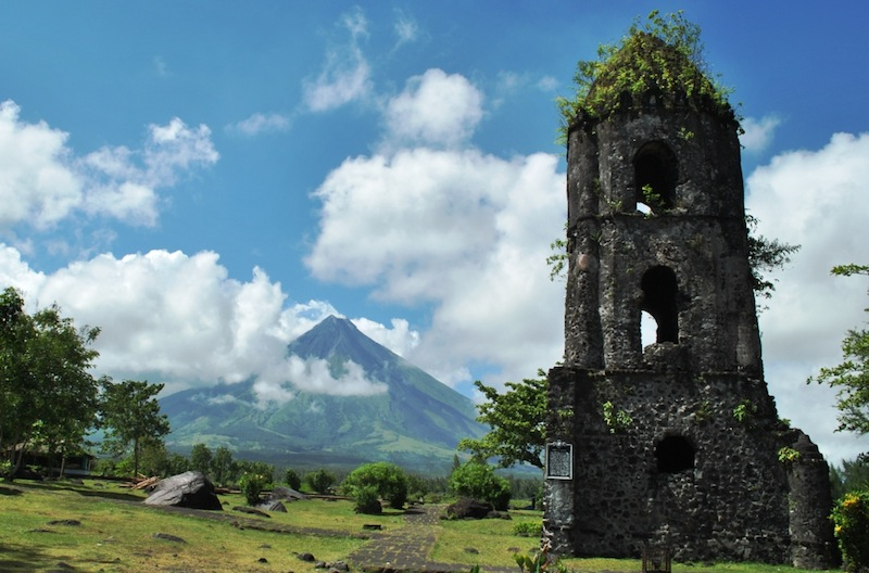 Mayon Volcano viewed from Cagsawa Ruins Park  (Photo by Bernard L. Supetran)