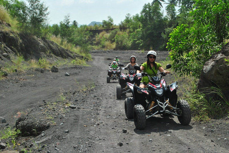 ATV riders at the Mayon lava watch  (Photo by Bernard L. Supetran)