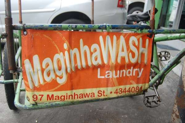 Maginhawash, along Maginhawa St. in U.P. Village, Quezon City, Philippines (Photo by Raymond Virata)