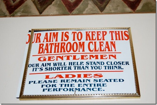 Our aim is to keep this bathroom clean.