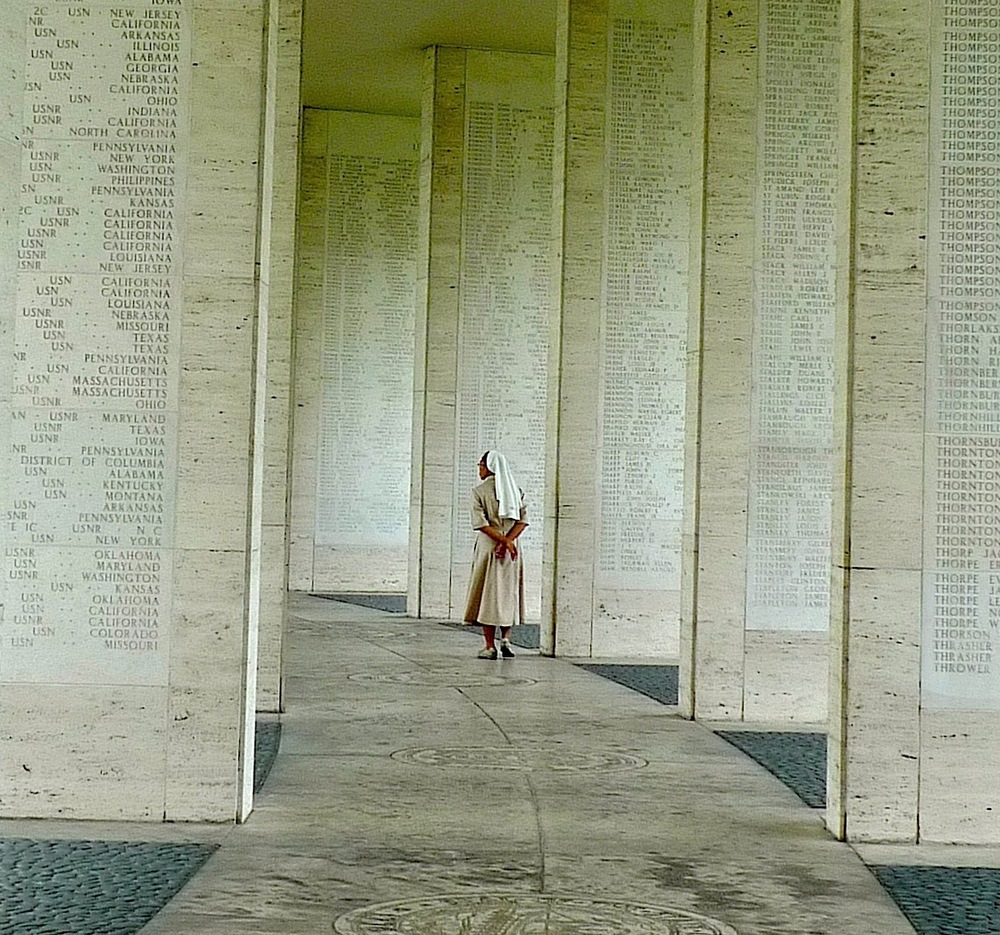 Over 36,000 names of the servicemen and women whose remains were never found are chiseled on the sandstone walls. (Photo by John Silva)